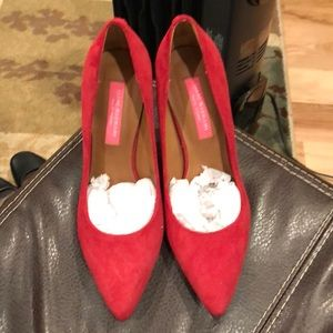 NWT Red Suede Leather Isaac Mizrahi 3 1/2